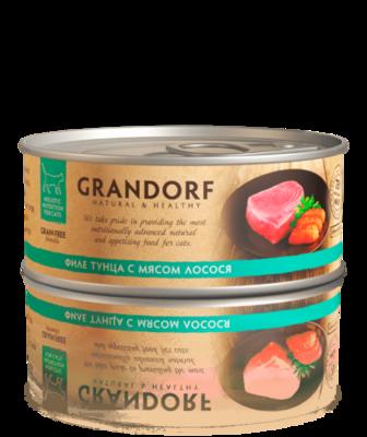 Грандорф Консервы для кошек Филе тунца с мясом лосося 70 гр.