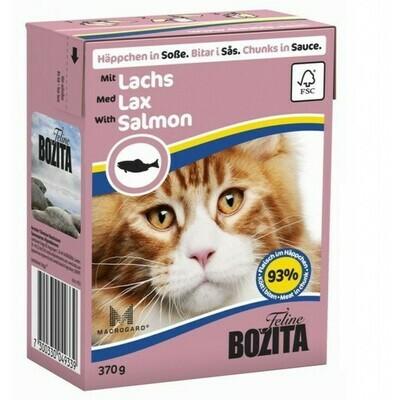 Бозита  BOZITA Tetra Pac д/кош конс 370г кус.в соусе Лосось FELINE