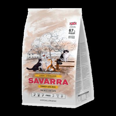 SAVARRA д/кошек с изб.весом и стерил. индейка/рис