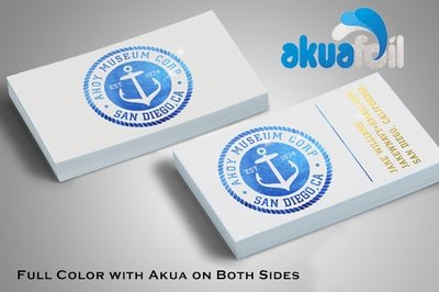 Business cards akuafoil business cards colourmoves
