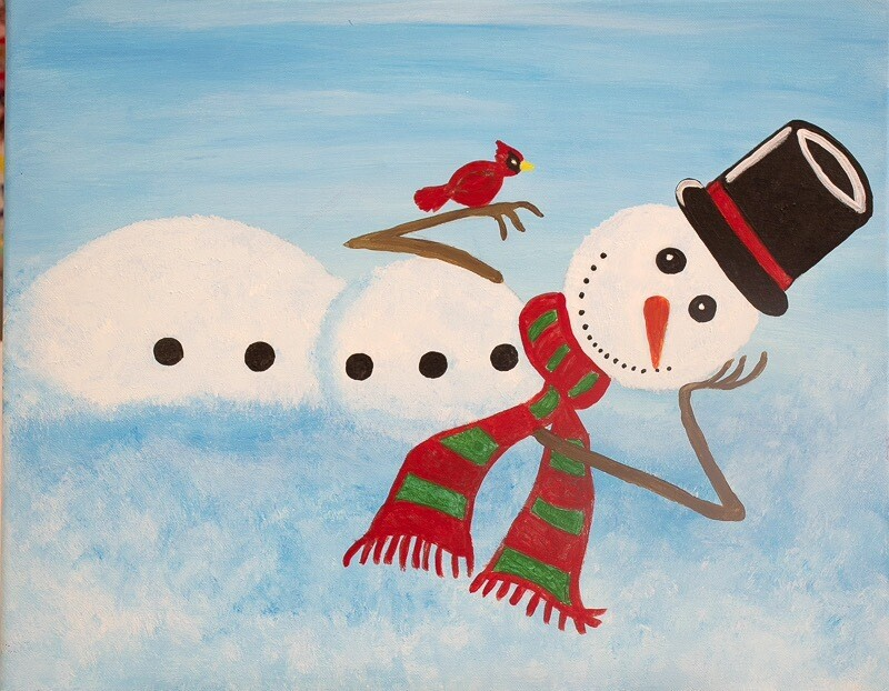 Holiday Painting Event Dec 22, 2019- Snowman ticket