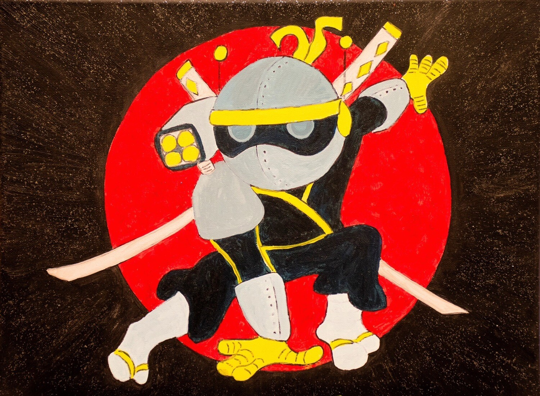 Ninja - Pre-traced canvas