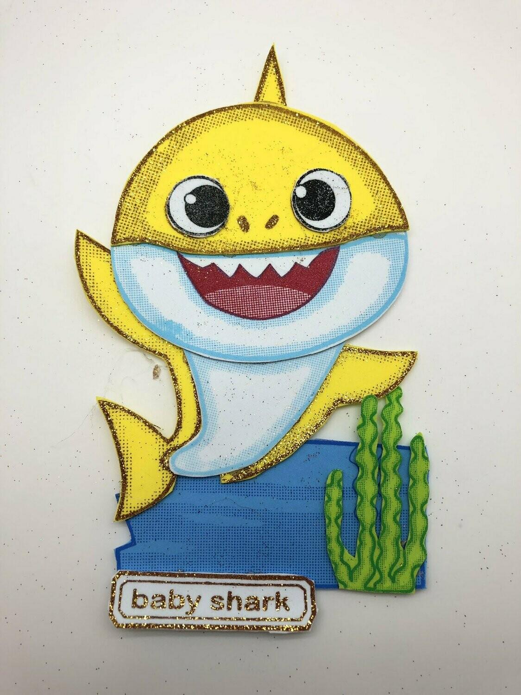 Baby Shark Pre-traced Canvas