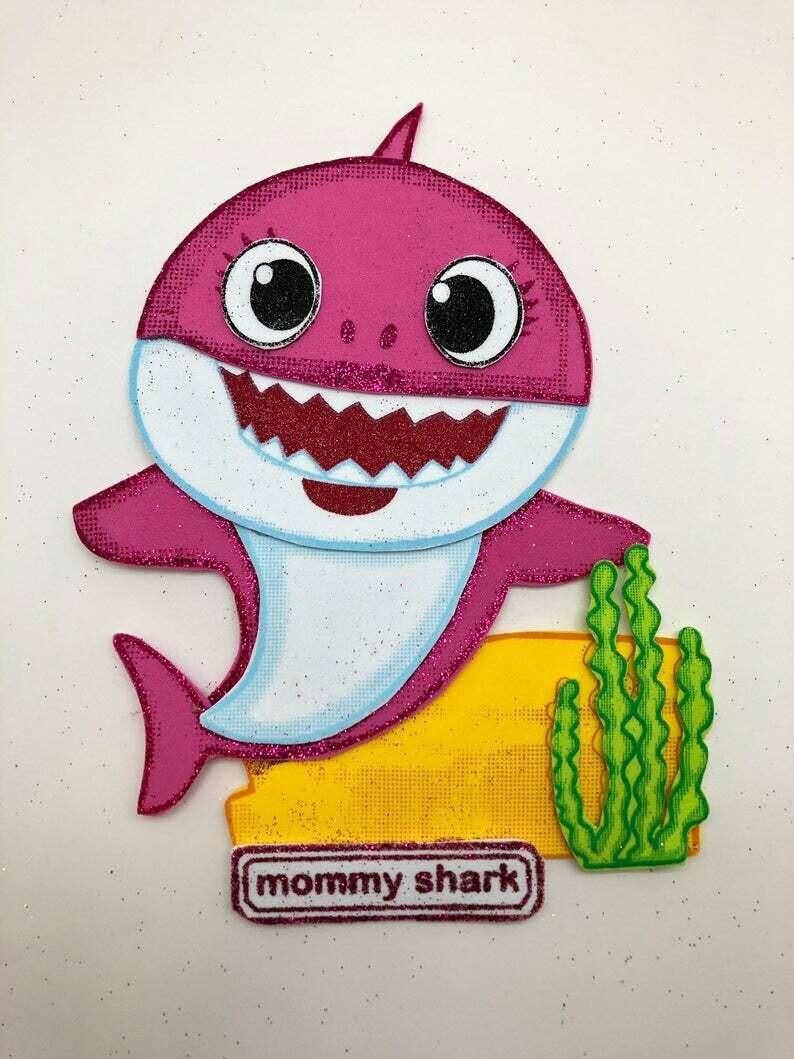 Baby Shark - Mommy Shark Pre-traced Canvas