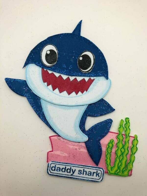 Baby shark - Daddy Shark Pre-traced Canvas