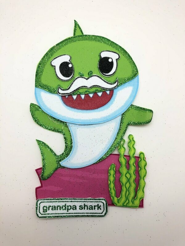 Baby Shark - Granpa shark Pre-traced Canvas