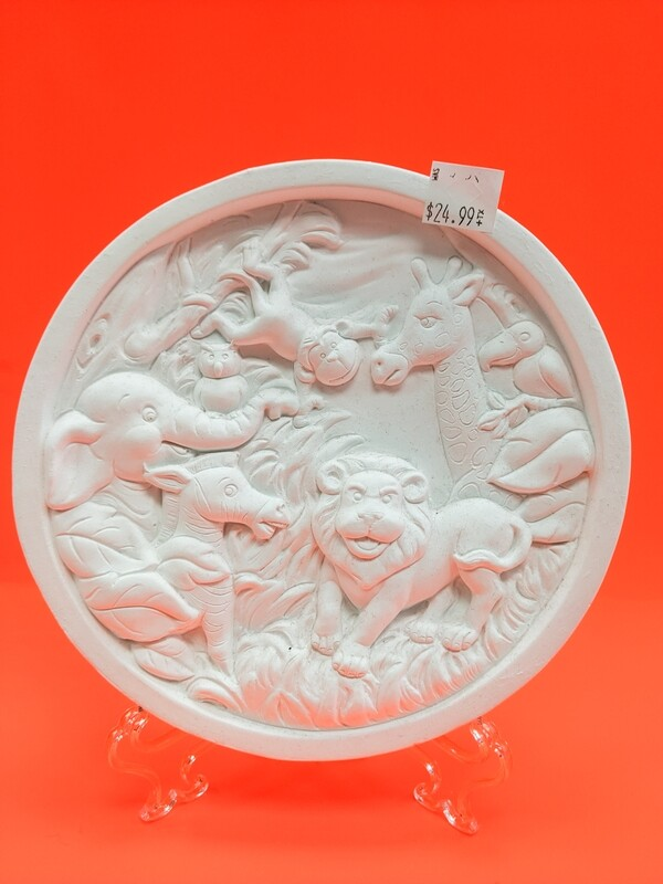 Animal Kingdom Plaster Plaque to paint for kids Art Craft
