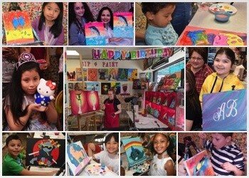 Virtual Canvas Painting Birthday Party Booking