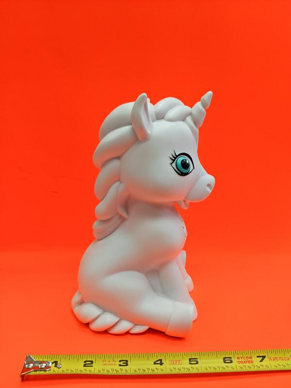 Unicorn piggy bank Paint your own DIY figurine plaster Art Craft activity