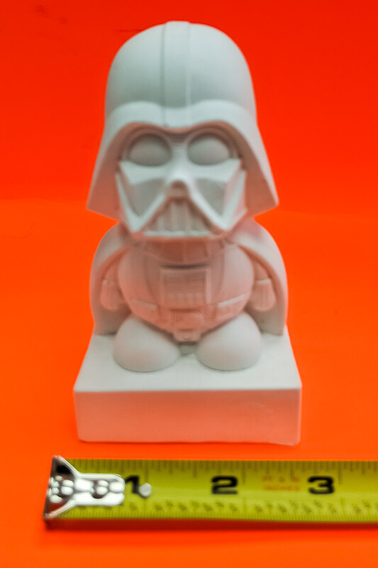 Darth Vader figurine to paint. Paint your own DIY plaster figurine Art Craft activity