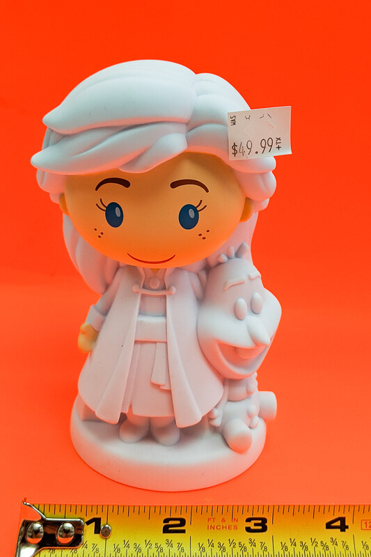 Frozen Elsa figurine to paint. Paint your own DIY plastic figurine Art Craft activity