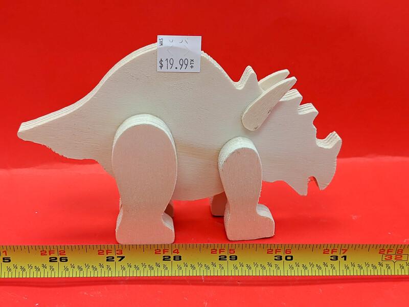 Wooden Dinosaurus figurine to paint. Paint your own DIY plastic figurine Art Craft activity