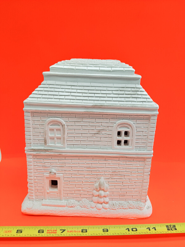 Big Christmas House figurine to paint. Paint your own DIY plaster figurine Art Craft activity