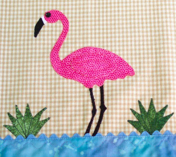 Flamingo On Dish Towel