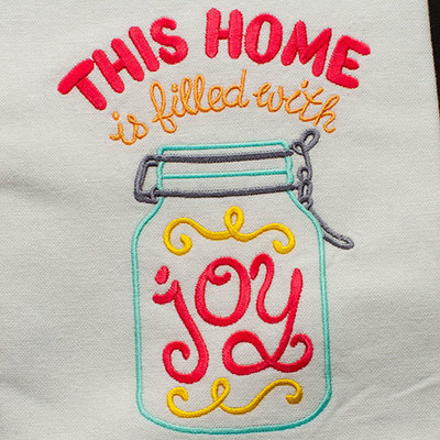 This Home Is Filled With Joy (Hand Towel)