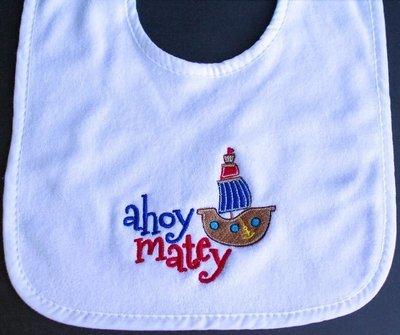 Ahoy Matey! Bib