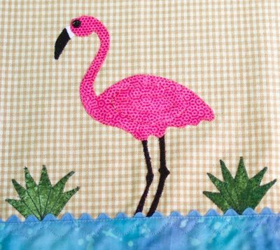 Flamingo On Dish Towel