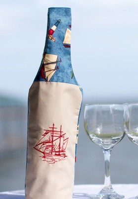 Ship Themed Wine Carrying Bag
