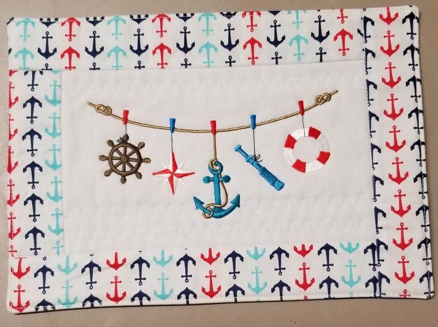 Nautical Symbols On A Rope