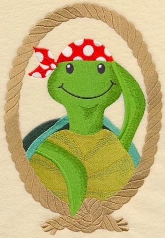 Sweet And Seaworthy Camo Turtle