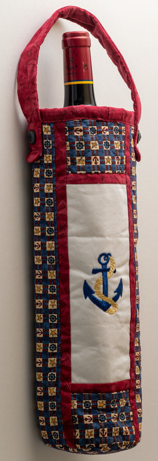 Nautical Wine Bag