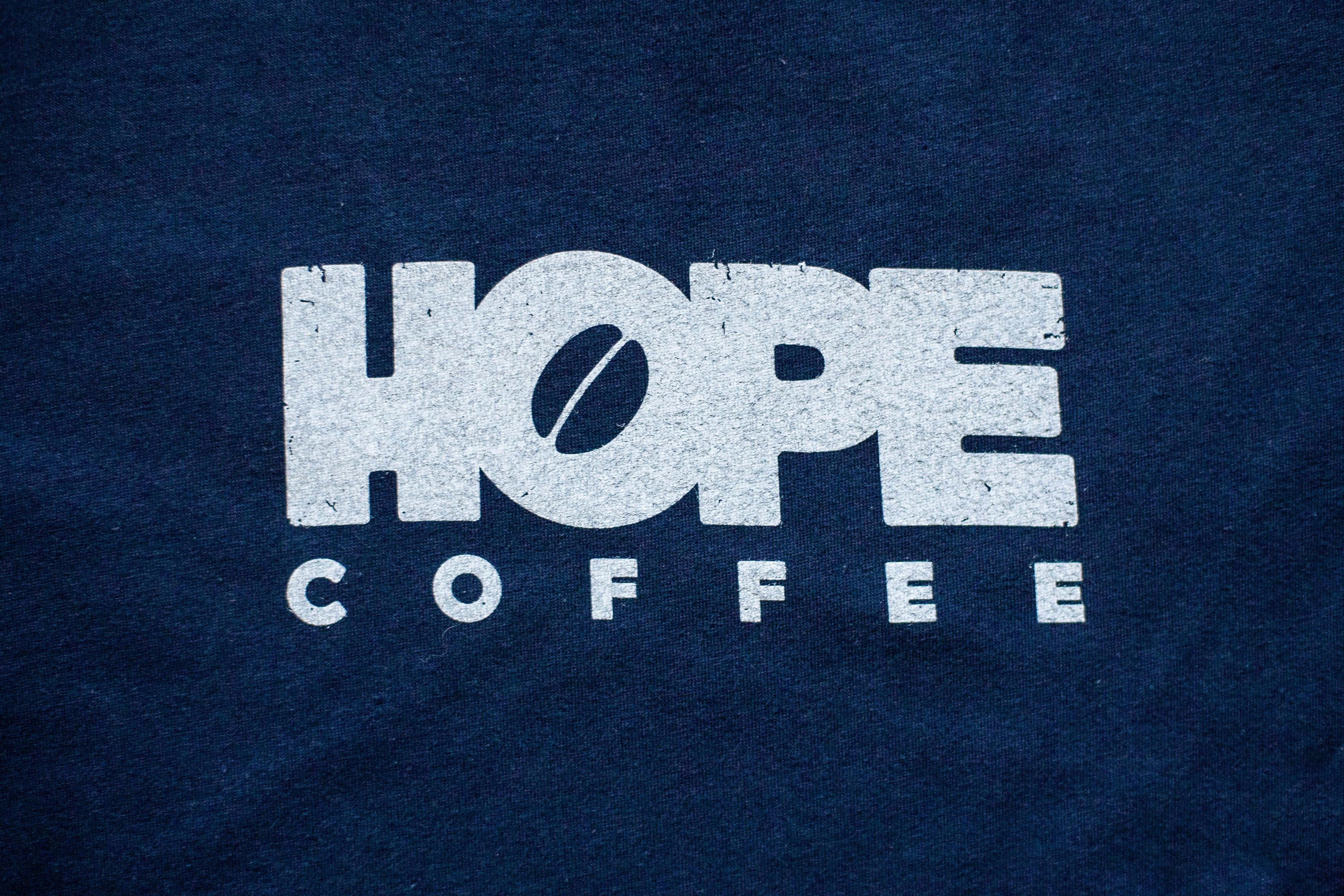 T-Shirt, Short Sleeve: HOPE Coffee Logo:  Navy
