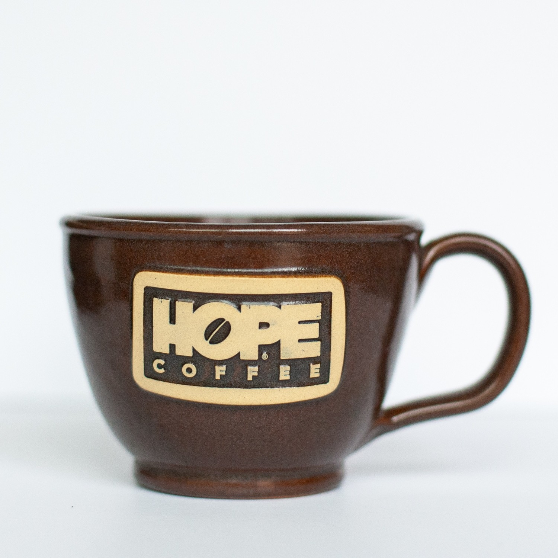 HOPE Coffee 12 oz Handcrafted Stoneware French Latte Mug