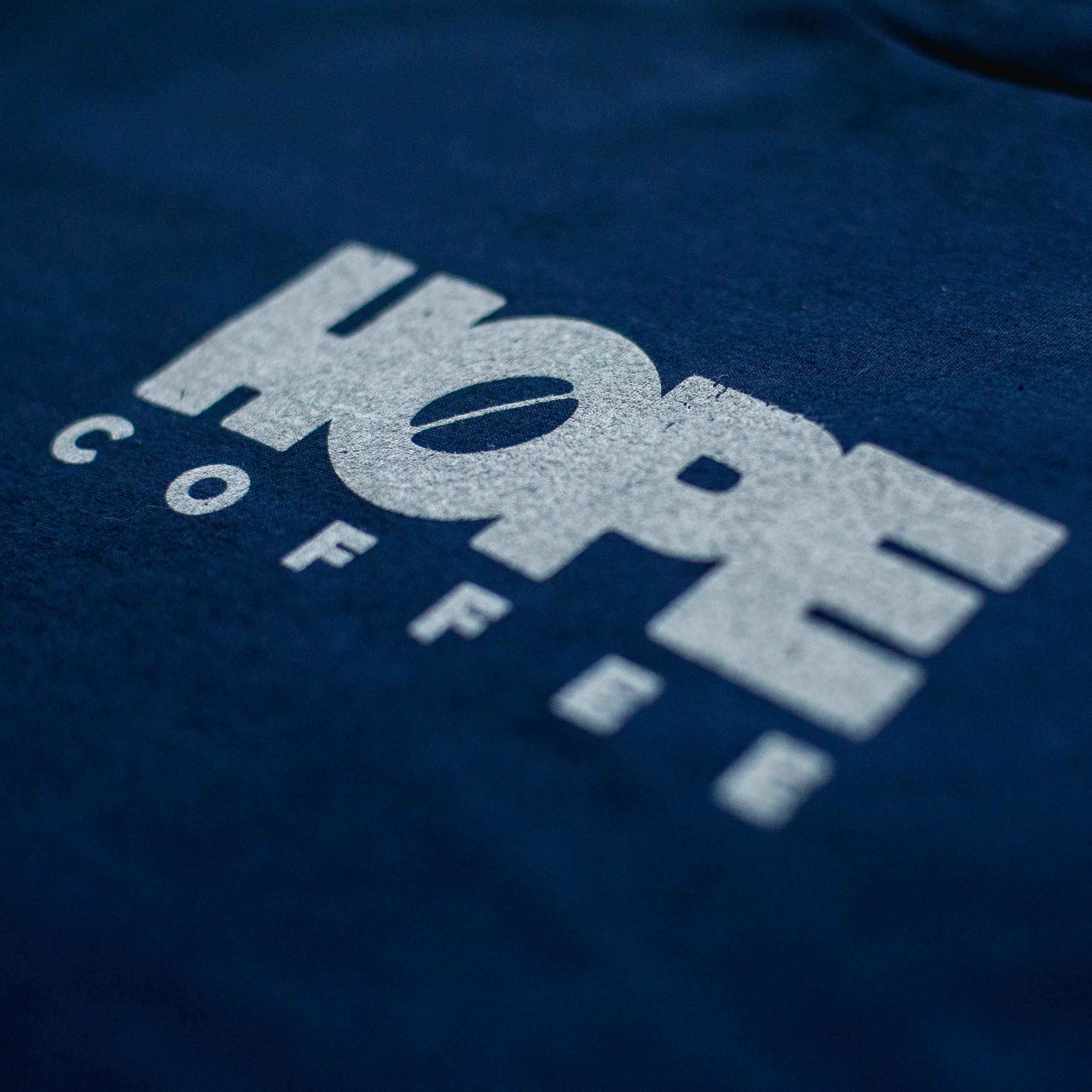 T-Shirt, Short Sleeve: HOPE Coffee Logo:  Navy HCLSSNAVY
