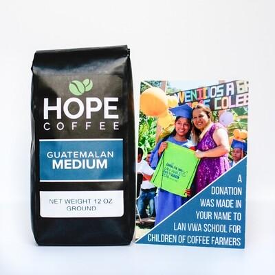 Lan Vwa Gift Pack - 12 oz bag of Guatemalan Coffee and $5 Donation to Lan Vwa