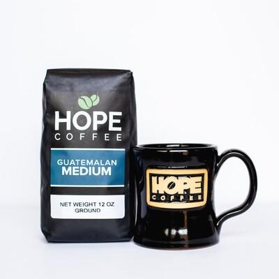 Choose Your Own Stoneware Mug or Tumbler and 12 oz. bag of HOPE Coffee