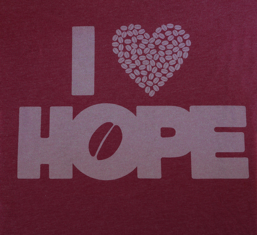 T-Shirts: I Heart HOPE (Cardinal)