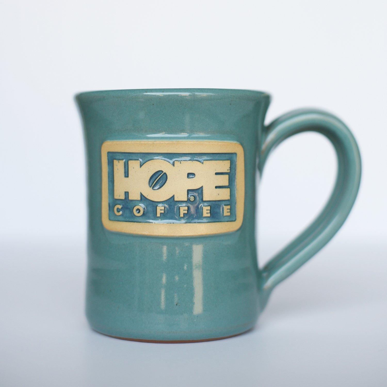 HOPE Coffee 10 oz. Handcrafted Stoneware Mug - Flare Style