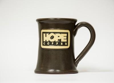 HOPE Coffee 12 oz Handcrafted Stoneware Mug - Jr Executive Style Fieldstone Glaze