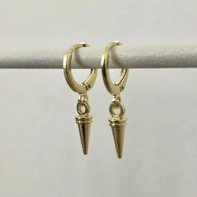IJspegel oorbellen goud