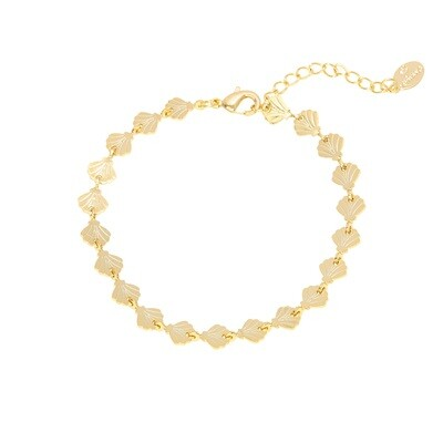 Seashell armband goud