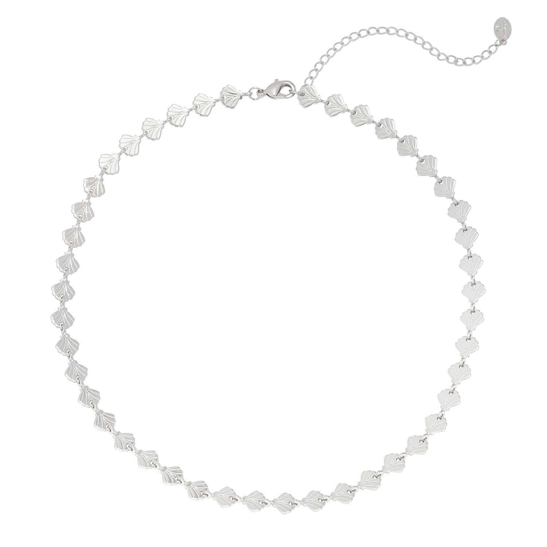 Seashell halsketting zilver