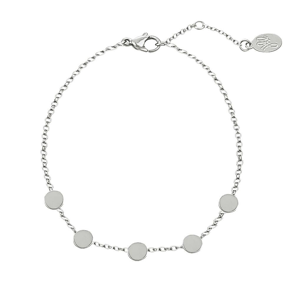 beads armband zilver