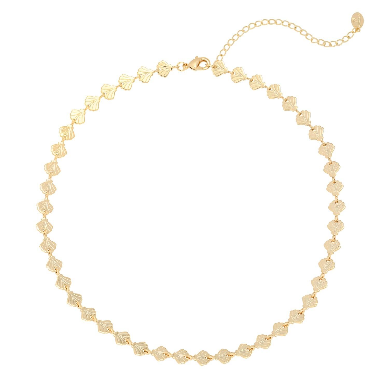 Seashell halsketting goud