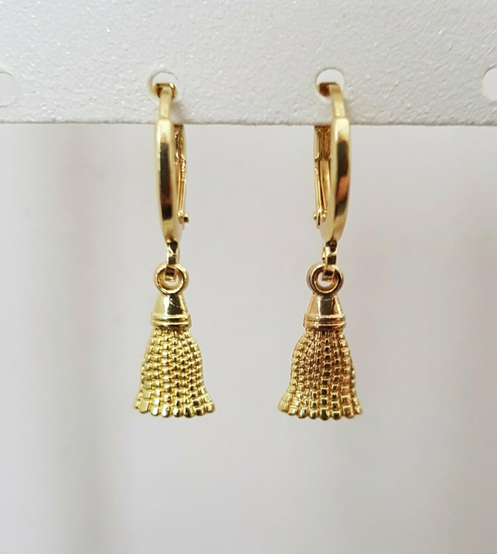 Mini tassel oorbellen goud