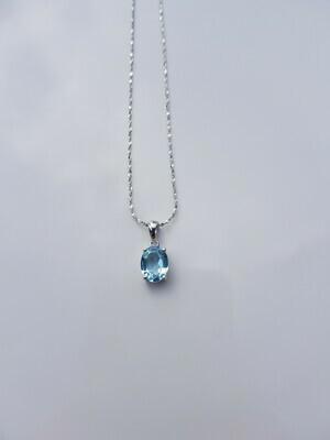 Blauw Topazs 925 sterling zilver