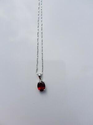 Rood Garnet 925 sterling zilver