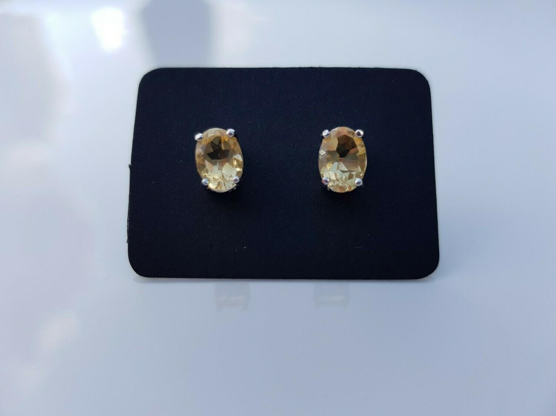 Geel Citrine oorbellen 925 sterling zilver