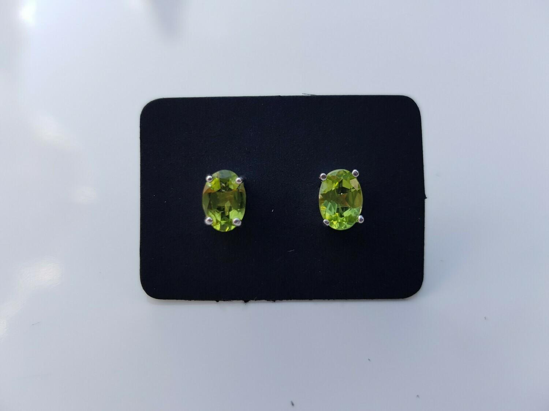 Groen Peridot oorbellen 925 sterling zilver