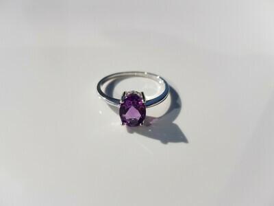 Paars Amethyst ring 925 sterling zilver