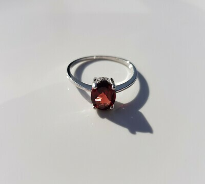 Rood Garnet ring 925 sterling zilver