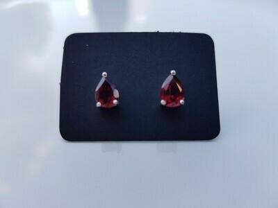 Rood Garnet oorbellen 925 sterling zilver