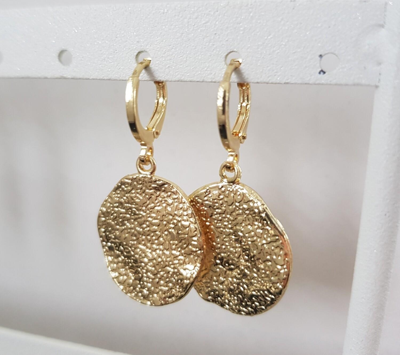 Figurewave oorbellen goud