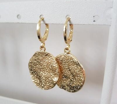 Firgurewave oorbellen goud