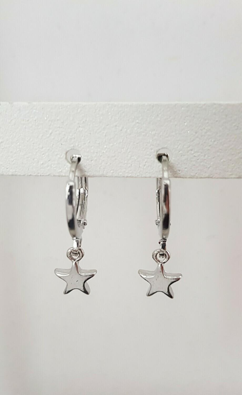 Tiny star oorbellen zilver