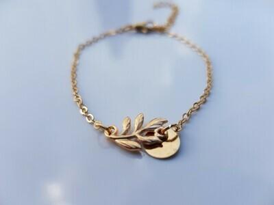 Leaf armband goud